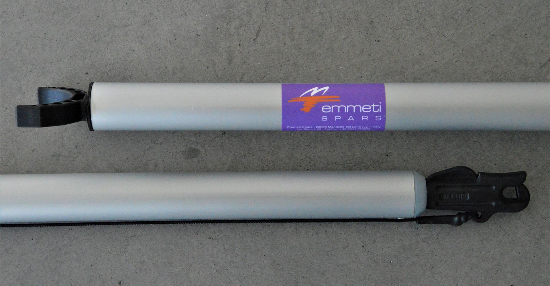 """Art 302 – Tangone in alluminio anodizzato, attrezzato con supporto per albero e aggancio rapido""""FICO"""" per fiocco"""