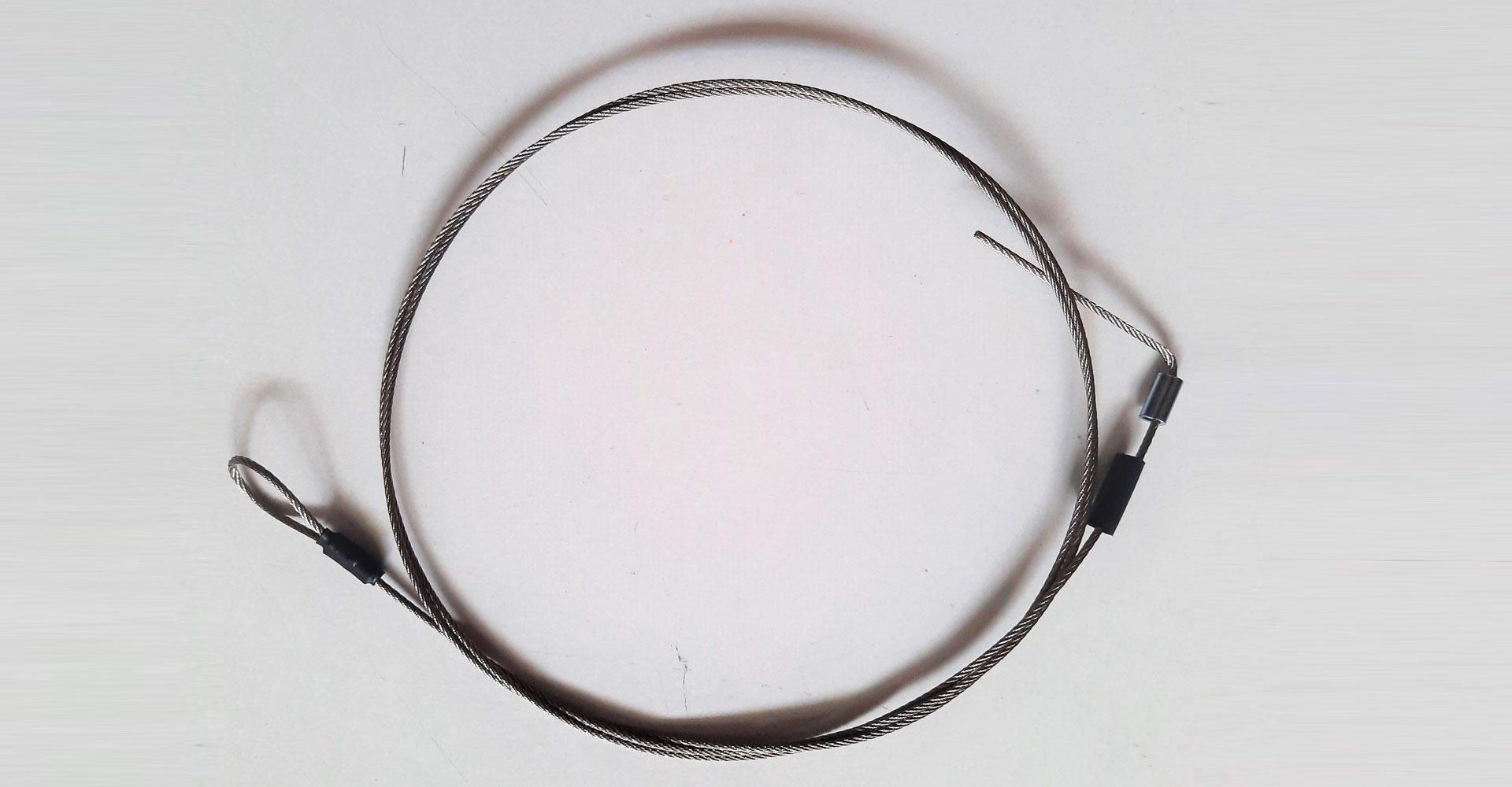 Art 510 – Sartiola preventor (volante – crocetta) fune acc.inox diam. 1.5 mm.
